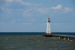 Sodus Zewnętrzna latarnia morska na Jeziornym Ontario Obraz Stock