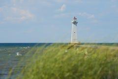 Sodus Zewnętrzna latarnia morska na Jeziornym Ontario, Nowy Jork Fotografia Royalty Free
