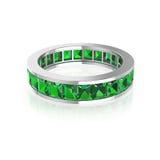 Soe com a princesa verde do diamante no fundo branco Foto de Stock
