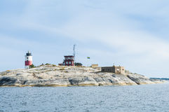 Soederarm lighthouse Stockholm archipelago Stock Images