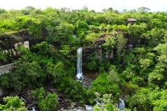 Soei Sawan Waterfall. Stock Photos