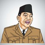 Soekarno ο πρώτος Πρόεδρος Δημοκρατίας της Ινδονησίας background cards fashion good like portrait some use vector 31 Οκτωβρίου 20 απεικόνιση αποθεμάτων