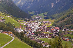 Soelden resort in Otztal, Tirol, Austria Stock Photos