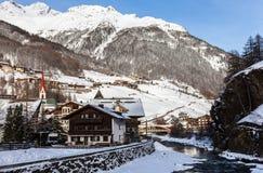 Soelden - ski resort, Austria Royalty Free Stock Photo