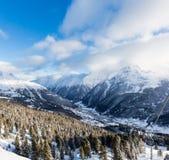 Soelden ski resort Stock Photo