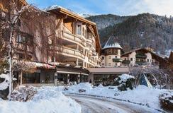 Soelden - station de sports d'hiver en Autriche Image libre de droits