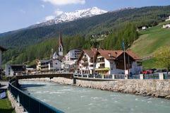Soelden in Tyrol, Austria. Soelden in Tyrol, view from the citi center Royalty Free Stock Image