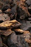 Soem bloks at peat field Stock Image