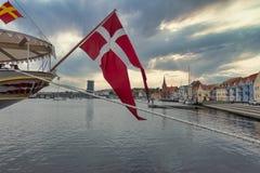 Free Soenderborg Marina With The Royal Dansih Vessel Dannebrog, Denmark Stock Photo - 222877860