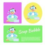 Soep Bubble2 Stock Afbeelding
