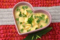 Soep van aardappels stock afbeeldingen