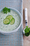 Soep van komkommer Royalty-vrije Stock Afbeelding