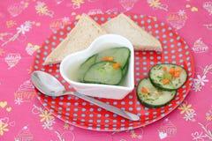 Soep van komkommer royalty-vrije stock foto