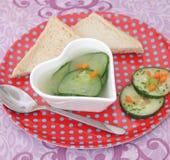 Soep van komkommer stock fotografie