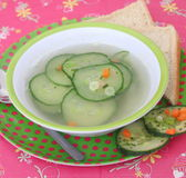 Soep van komkommer stock foto