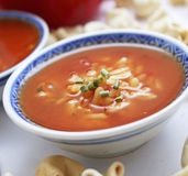 Soep van tomaten royalty-vrije stock foto's