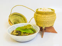 Soeppaddestoel met kleverige rijst Royalty-vrije Stock Afbeelding