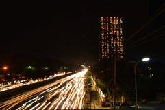 Soerabaya Indonesia nel eksposure lungo di notte Fotografia Stock