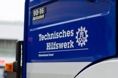 Soest, Германия - 31-ое декабря 2018: Немецкое федеральное агентство для технического корабля оборудования сброса немецкого: Bund стоковые изображения
