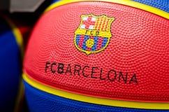 Soest, Alemania - 7 de enero de 2019: Squet del FC BarcelonaBÃ inglés: Bola del baloncesto del FC Barcelona fotografía de archivo libre de regalías