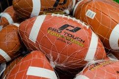Soest, Germania - 8 gennaio 2019: Il PRO TOCCO, atterra la palla di football americano fotografia stock libera da diritti