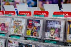 Soest, Germany - December 22, 2018: Nintendo 3DS games for sale in the Müller supermarket. Nintendo 3DS games for sale in the Müller supermarket royalty free stock images