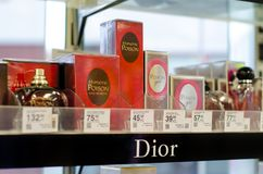 Soest, Germany - January 3, 2019: Dior Perfume for sale in the shop stock photography