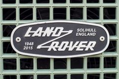 Soest, Germany - January 10, 2018: Land Rover Grille Emblem Badge. Land Rover Grille Emblem Badge royalty free stock images