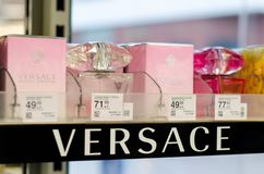Soest, Germany - January 3, 2019: Versace Perfume for sale in the shop royalty free stock image