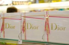 Soest Niemcy, Styczeń, - 3, 2019: Dior pachnidło dla sprzedaży w sklepie zdjęcie stock