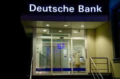 Soest Tyskland - December 12, 2018: Deutsche Bank royaltyfria bilder