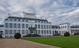 Soestdijk Palace in The Netherlands. Front facade of Soestdijk Palace, the former residency of the late Queen Juliana of the Netherlands Stock Photo