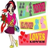 Soeur d'amant Image libre de droits