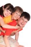 Soeur et frères heureux Images libres de droits