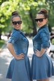 Soeur jumelle avec des lunettes de soleil Photo stock