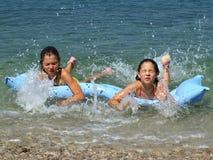 Soeurs à la Mer Adriatique 1 Photos stock