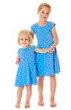 Soeurs dans des robes bleues Photos stock
