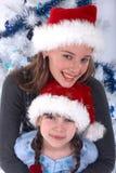 Soeurs de Santa Photographie stock libre de droits
