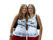 Soeurs jumelles photo libre de droits