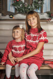 Soeurs le temps de Noël Photos stock