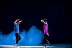 Soeurs-Modern dance Royalty Free Stock Photo