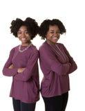 2 soeurs ou amis Images libres de droits