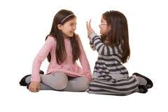 2 soeurs ou amis Image libre de droits