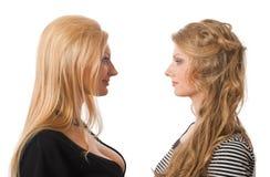 soeurs semblables de verticale Photo libre de droits