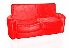 Sofà 3D Fotografie Stock Libere da Diritti