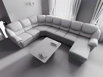 Sofà bianco nell'interiore Fotografie Stock Libere da Diritti