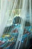 Sofà blu con il baldacchino Fotografia Stock Libera da Diritti