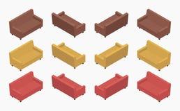 Sofà colorati moderni isometrici Immagine Stock