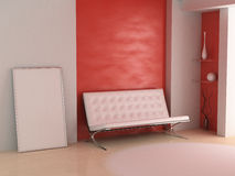 sofà del blocco per grafici Immagine Stock
