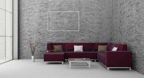 sofà della stanza royalty illustrazione gratis